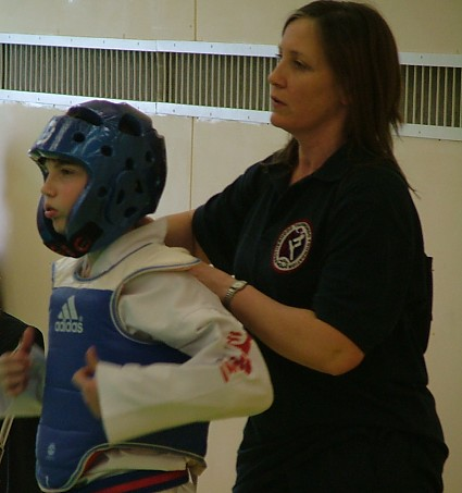 2009 - Donette Gates-Day coaches son George at the ChungDoKwan National Championships