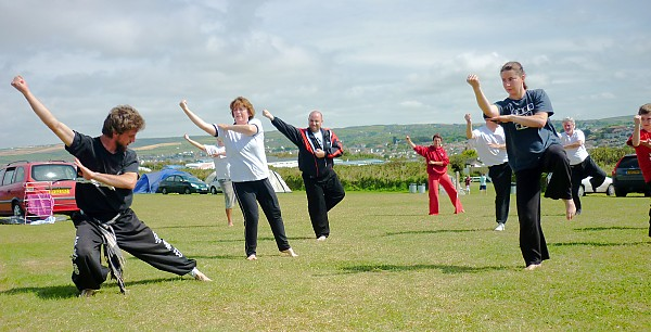 Liam_Grange_leads_TaiChi_training_in_Bude_Cornwall_August_2011
